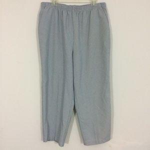 Bobbie Brooks Womens Plus Size 16 Plaid Pants